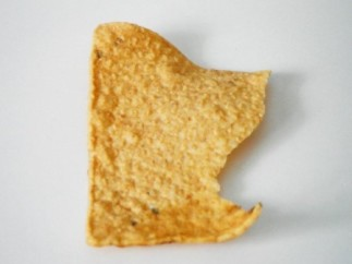 original chip at angle